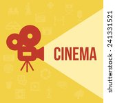 cinema retro projector... | Shutterstock . vector #241331521