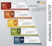 design clean number banners... | Shutterstock .eps vector #241331719