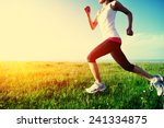 runner athlete running on grass ... | Shutterstock . vector #241334875