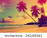 beautiful tropical beach with... | Shutterstock . vector #241335361