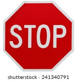 stop sign all way isolated on... | Shutterstock . vector #241340791