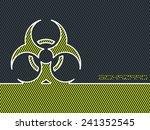 bio hazard warning sign with...   Shutterstock .eps vector #241352545