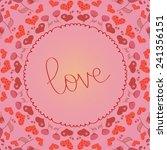 mandala love  circular ornament | Shutterstock .eps vector #241356151