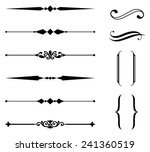 rule line and ornament set  ... | Shutterstock .eps vector #241360519