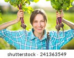 Gardening   Woman With Organic...