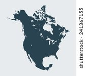 map of  north america | Shutterstock .eps vector #241367155