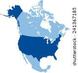 map of usa | Shutterstock .eps vector #241367185