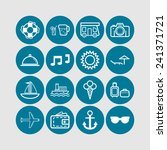 set of simple icons for... | Shutterstock .eps vector #241371721