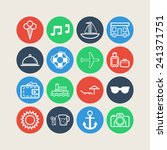set of simple icons for... | Shutterstock .eps vector #241371751