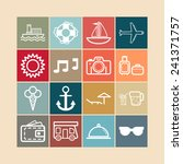 set of simple icons for... | Shutterstock .eps vector #241371757