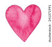 vector watercolor heart | Shutterstock .eps vector #241371991