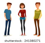group of young people in casual ... | Shutterstock .eps vector #241380271