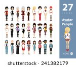 set of people icons in flat... | Shutterstock .eps vector #241382179
