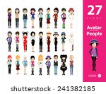 set of people icons in flat... | Shutterstock .eps vector #241382185