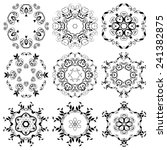 set of round ornaments. vector... | Shutterstock .eps vector #241382875