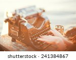old typewriter | Shutterstock . vector #241384867