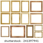 gold picture frame isolated on... | Shutterstock . vector #241397941