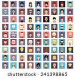 set of people icons in flat... | Shutterstock .eps vector #241398865