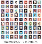 set of people icons in flat... | Shutterstock .eps vector #241398871