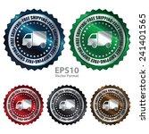 metallic free shipping icon ...   Shutterstock .eps vector #241401565