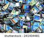 mobile phones background. pile... | Shutterstock . vector #241404481