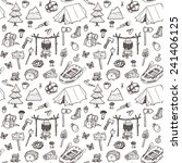 Hand Drawn Seamless Pattern ...