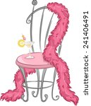 Illustration Of A Fancy Chair...