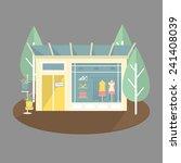Boutique Shop Facade With Clot...