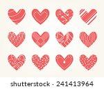 valentine heart vector set  ... | Shutterstock .eps vector #241413964