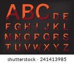 orange abstract shadow vector... | Shutterstock .eps vector #241413985