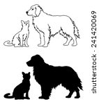 dog and cat graphic style is an ... | Shutterstock .eps vector #241420069