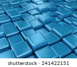 abstract background of 3d blocks | Shutterstock . vector #241422151