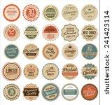 premium quality retro badges | Shutterstock .eps vector #241423114