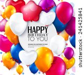birthday card with colorful... | Shutterstock .eps vector #241425841