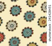 vector doodle flower seamless... | Shutterstock .eps vector #241428451