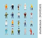 profession people set  vector. | Shutterstock .eps vector #241431631