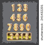 set of gold number 2015 design... | Shutterstock .eps vector #241432201