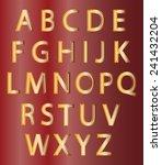 set of gold alphabet design... | Shutterstock .eps vector #241432204