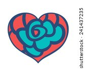 cute doodle heart multicolor... | Shutterstock .eps vector #241437235