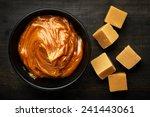 Bowl Of Melted Caramel Cream O...