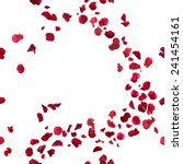 Stock photo seamless red rose petals breeze studio photographed in depth of field isolated on white 241454161