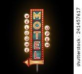 neon sign motel | Shutterstock .eps vector #241457617