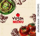 eco food vegan menu background. ... | Shutterstock .eps vector #241461841