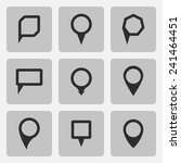 pointer  black icons set ... | Shutterstock . vector #241464451