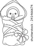 Baby In Blanket. Newborn Baby...