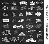 catchwords design elements set. ... | Shutterstock .eps vector #241467757