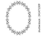 vector ornamental black frame... | Shutterstock .eps vector #241471309