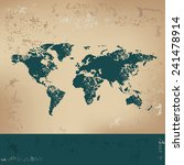 map of the world design on old... | Shutterstock .eps vector #241478914