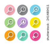 magnifying glass icons with... | Shutterstock .eps vector #241480411