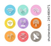 various wireless icons with... | Shutterstock .eps vector #241480471